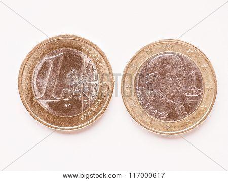 Austrian 1 Euro Coin Vintage