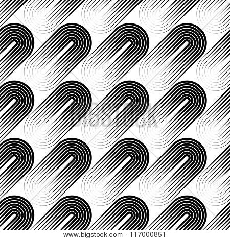 Seamless Circle Pattern. Vector Stripe Background