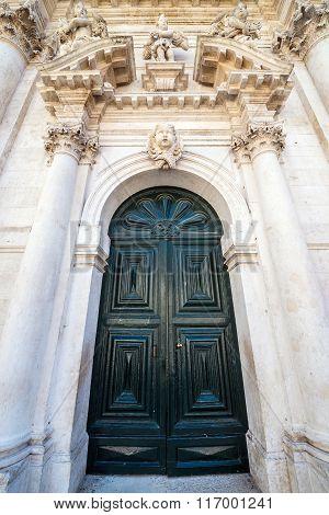 Baroque style Church of Saint Blaise in Dubrovnik Croatia