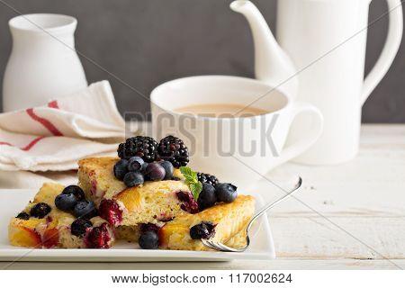 Yogurt fruit cake