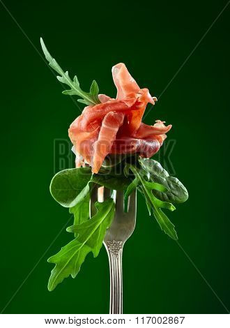 Jamon With Spinach And Arugula