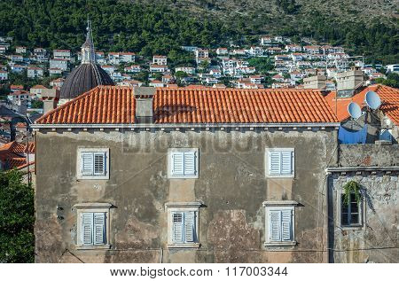 View on Old Town of Dubrovnik in Croatia