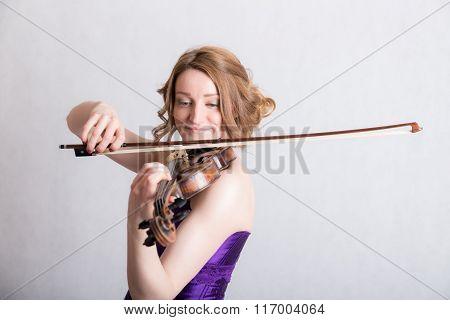 Portrait Of A Smiling Violinist