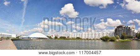 Panorama of Minsk across Svisloch river