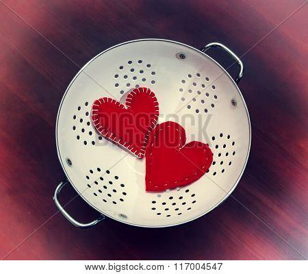 Red Hearts, Valentine Day, Vintage