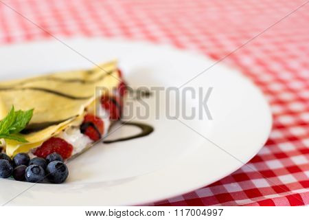 Sweet Crepes On The Plate