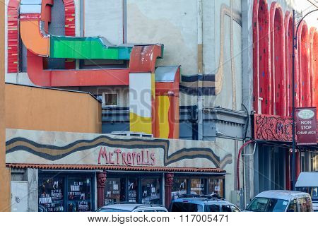 Bucharest, Romania - January 4: Teatrul Metropolis On January 4, 2016 In Bucharest. Detail Of Buchar