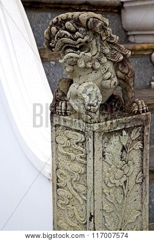 Monster Demon In The Temple Column Warrior