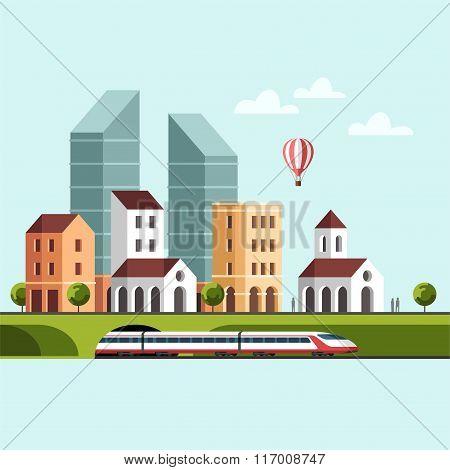 Cityscape Urban Landscape and City Life
