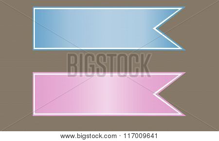 Set Of  Stickers, Labels. Vector Template