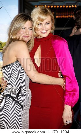 Jennifer Aniston and Malin Akerman at the Los Angeles Premiere of