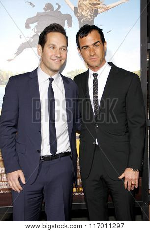 Paul Rudd and Justin Theroux at the Los Angeles Premiere of