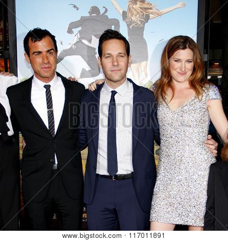 Kathryn Hahn, Justin Theroux and Paul Rudd at the Los Angeles Premiere of