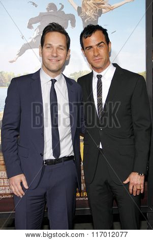 Justin Theroux and Paul Rudd at the Los Angeles Premiere of