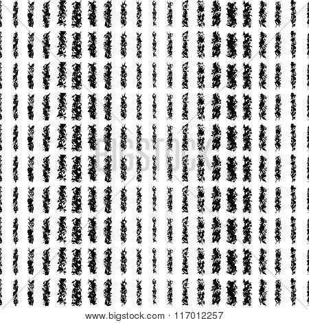 Seamless black and white decorative vector background. Print. Repeating background.