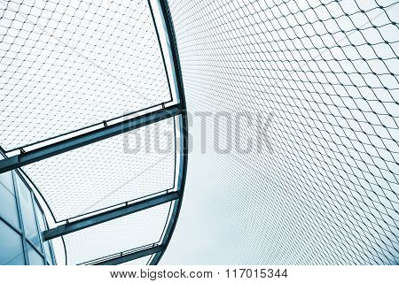 Steel Chain Link Fences, Abstract Blue Toned