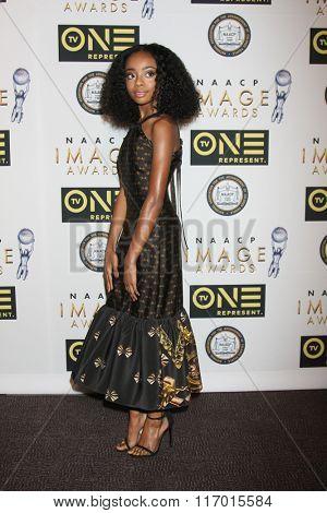 LOS ANGELES - FEB 4:  Skai Jackson at the Non-Televised 47TH NAACP Image Awards at the Pasadena Conference Center on February 4, 2016 in Pasadena, CA