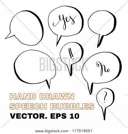 PrintHand drawn speech bubbles.