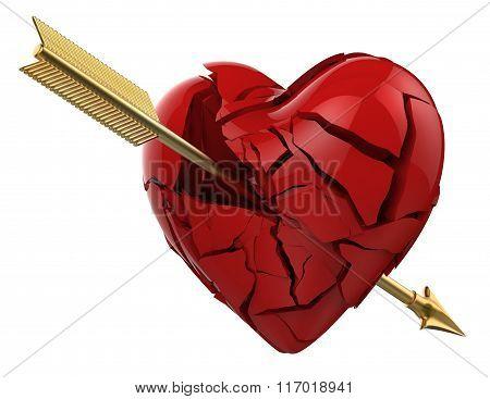 Arrow broke the heart of love