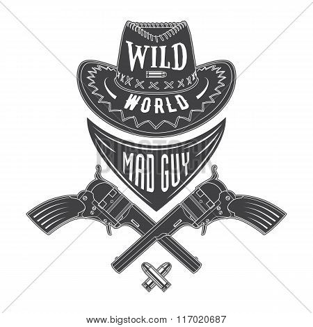 Mad Guy Cowboy Emblem