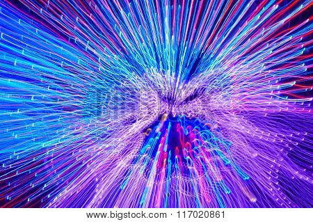 Moving Colored Lights Background. Abstract Backdrop