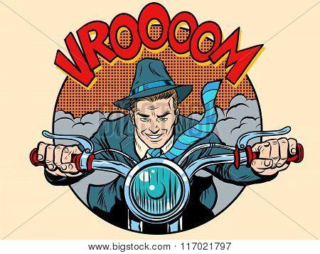 Motorcyclist rider biker man