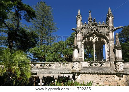 QUINTA DA REGALEIRA, one of the principal tourist attractions of Sintra, surrounded by a luxurious park that features exquisite constructions