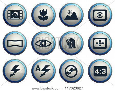 Photo modes icons set
