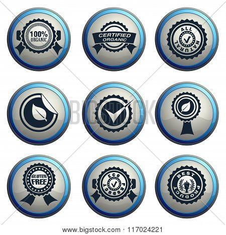 Seals icons set