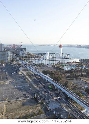Top View Of Tokyo Bay, Odaiba