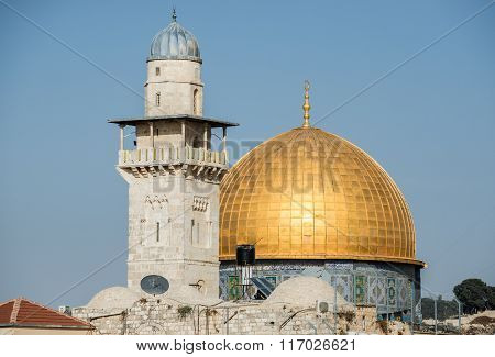 Dome of the Rock shrine in Jerusalem city Israel