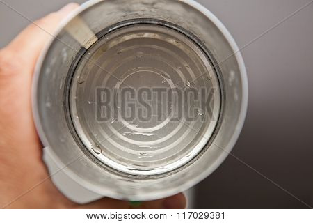 Empty Washed Out Food Tin Can