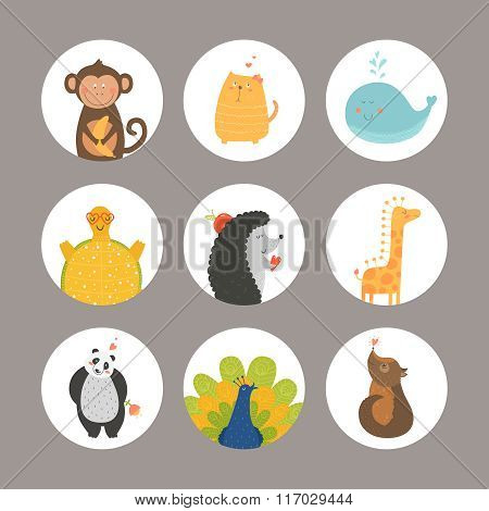 Set Of Cartoon Animals