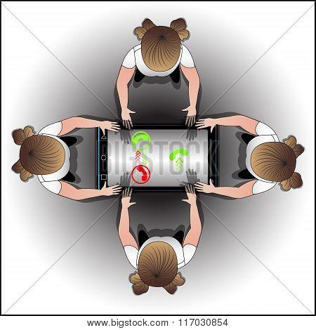 Information Stream Between People Via Phone.