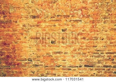 Milan  Italy Old Church Concrete Wall  Brick   The