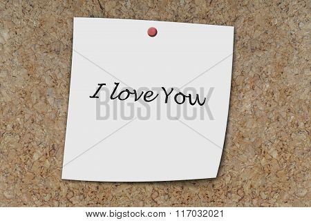 I Love You Written On A Memo