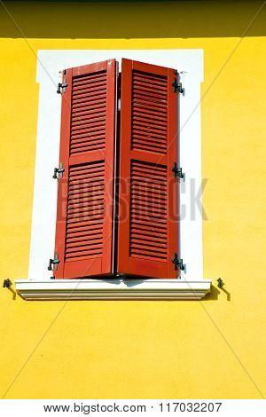 Red Window  Varano Borghi Palaces Italy     Sunny