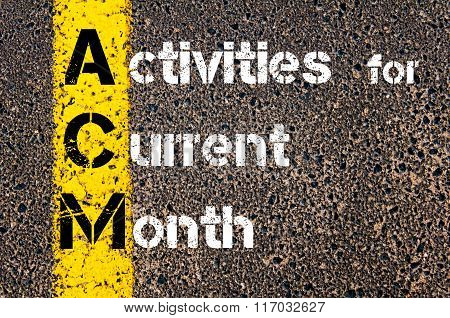 Business Acronym Acm Activities For Current Month
