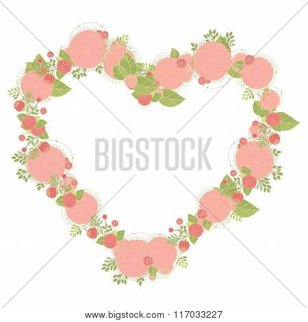 Floral heart shape wreath made of asters