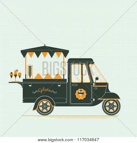 Ice Cream And Gelato Cart