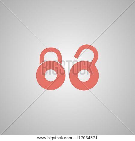 Lock Icon. Flat