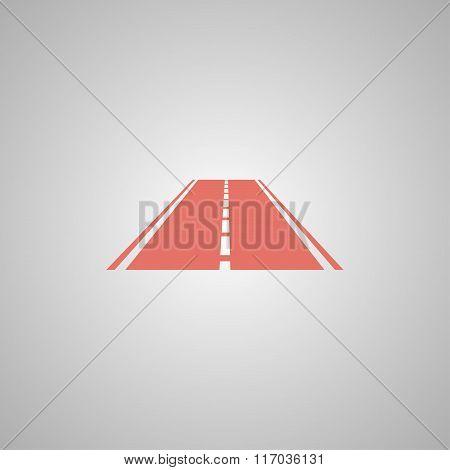 Road Icon. Flat