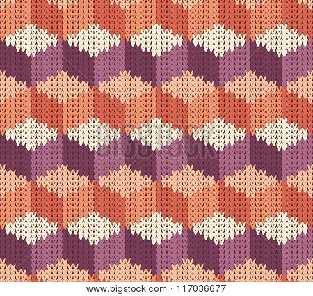 Abstract Pattern With Seamless Knitted Texture