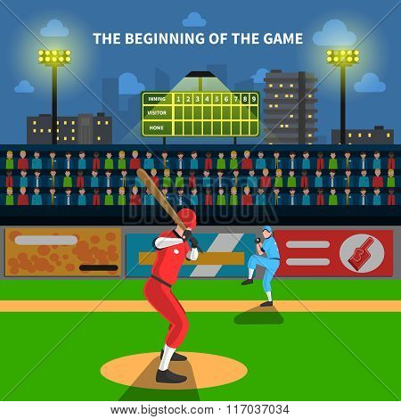 Baseball game illustration