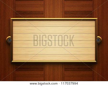 Wooden Rectangle Doorplate