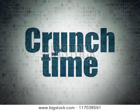 Finance concept: Crunch Time on Digital Paper background