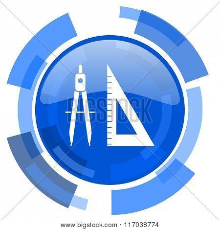 learning blue glossy circle modern web icon