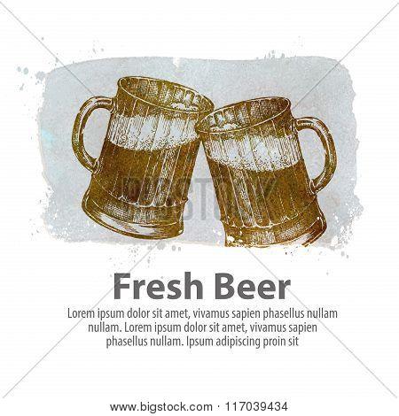 beer vector logo design template. pub, brasserie icon