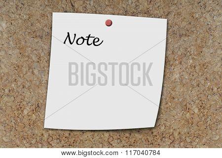 Note Written On A Memo