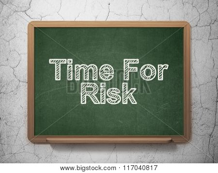 Time concept: Time For Risk on chalkboard background